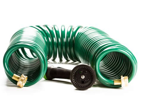 Garden Hose Easy To Coil Expandable Water Garden Hose 50 Ft Coil Hose W 7