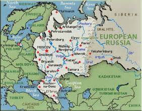 Europe Russia Map by History Map Archive