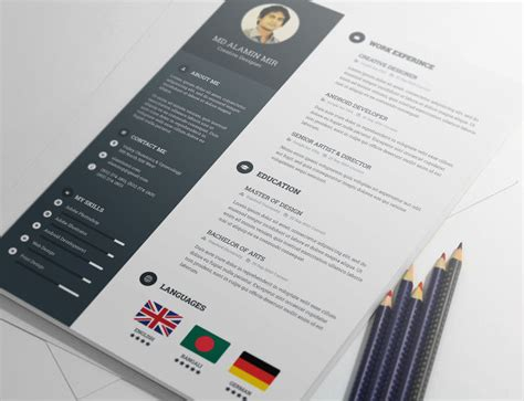 20  Free Resume Design Templates for Web Designers