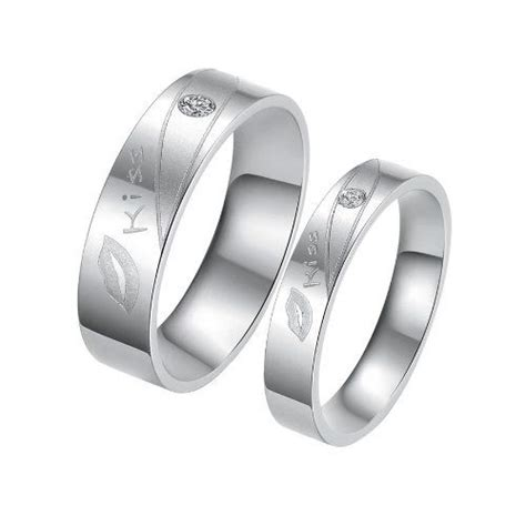 fashion titanium stainless steel quot quot lip promise ring
