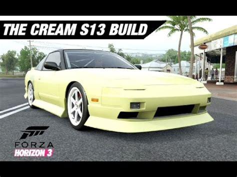 nissan 240sx cream adam lz s cream 240sx s13 build forza horizon 3 youtube