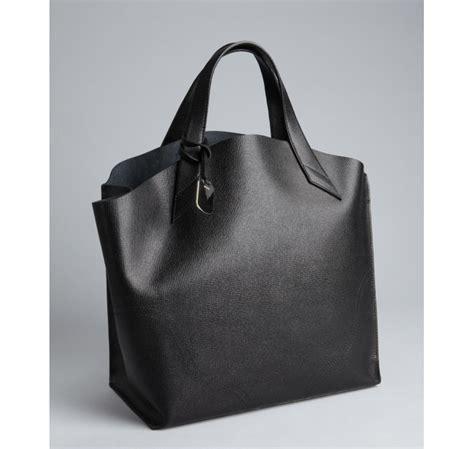 lyst furla leather jucca shopper tote in black