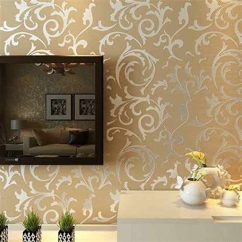 luxury grey silver leaf  steroscopic wallpaper  walls