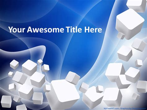Download Free 3d Cubes Powerpoint Template Healthfilecloud Powerpoint Templates 3d Free