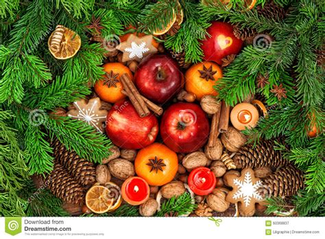 christmas showcase round shops and nuts food stock photography cartoondealer 26544878