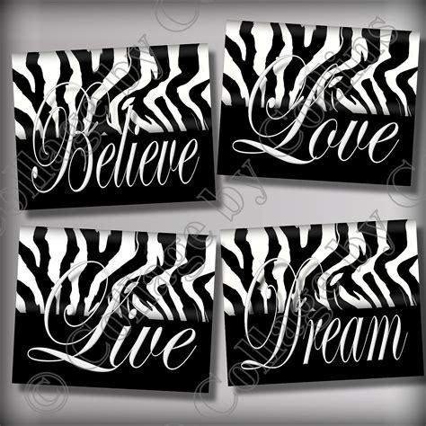 Zebra Print Decorations by Zebra Print Wall Decor Live By Collagebycollins