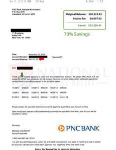 2014 2015 debt settlement letters