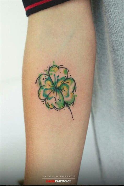 imagenes de tatuajes de trebol tatuaje tr 233 bol de acuarela trabajo de antony poblete