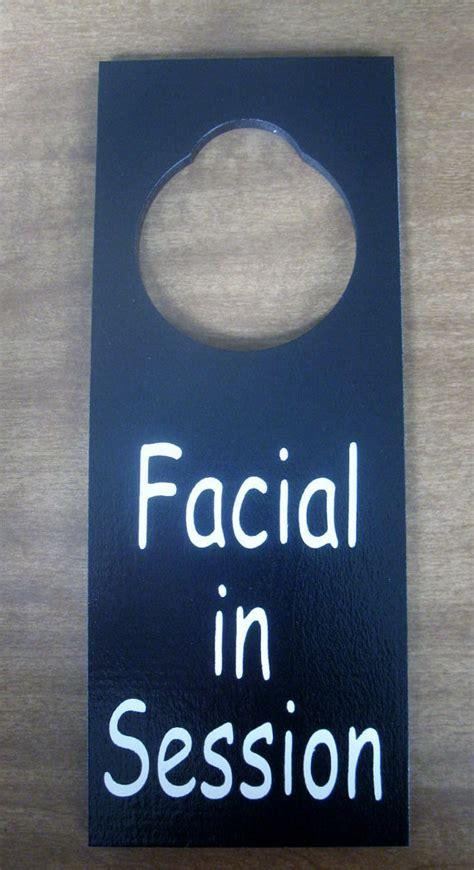 Door Knob Signs by In Session Painted Wooden Door Knob Hanger Sign