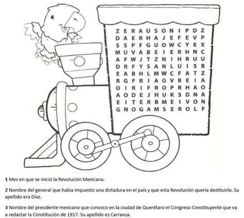 imagenes para imprimir revolucion mexicana trenecito de sopa de letras de la revoluci 243 n mexicana