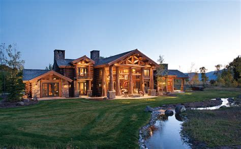 wyoming house handcrafted log home in jackson hole rustic exterior