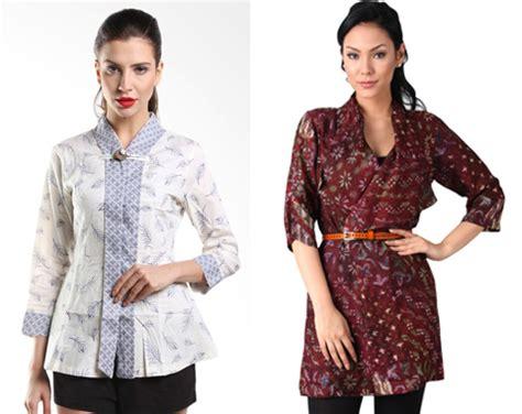 Batik Blouse Muslim Atasan Wanita Rinjani 12 gambar model baju lengan panjang pria wanita terbaru
