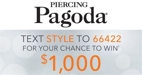 Sweepstakes Promo Sms - piercing pagoda fall sms instant win game 2017