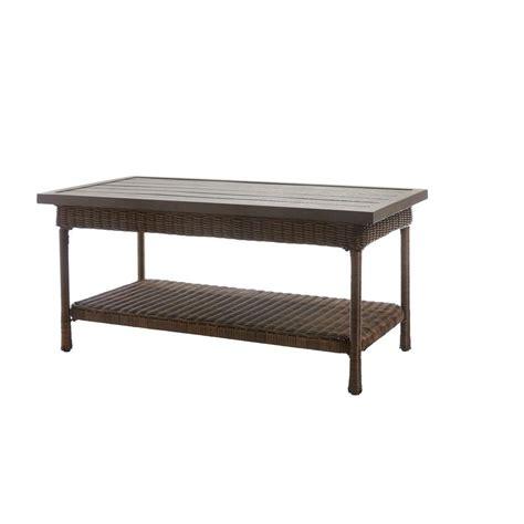 home depot outdoor coffee table hton bay beacon park wicker outdoor coffee table with
