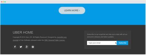 html footer template customizing uber template joomla templates and