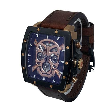 Expedition E6395m Jam Tangan Pria Hitam Gold Kulit Coklat jual expedition cronograph jam tangan pria hitam gold coklat 140541 harga