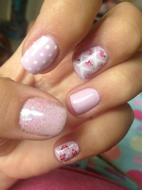 17 migliori idee su shabby chic nails su pinterest unghie graziose motivo a pois per unghie e
