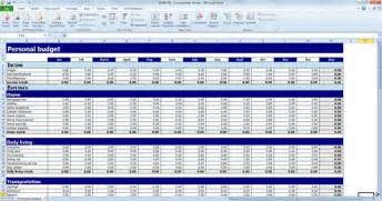 personnel budget template free personal budget template for excel powerpoint