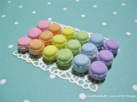 miniatures   love   rainbow macarons merry christmas