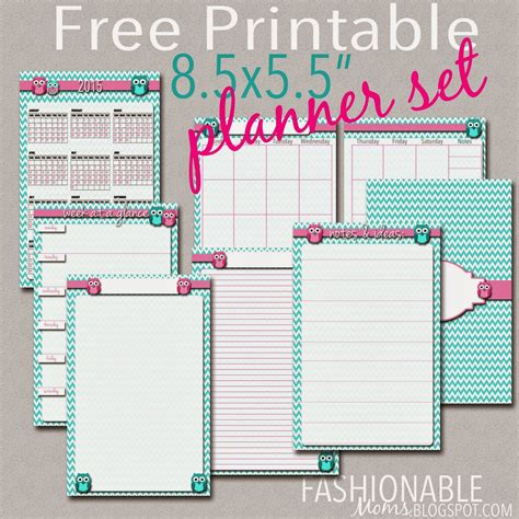 planner for moms printable free fashionable moms january 2015