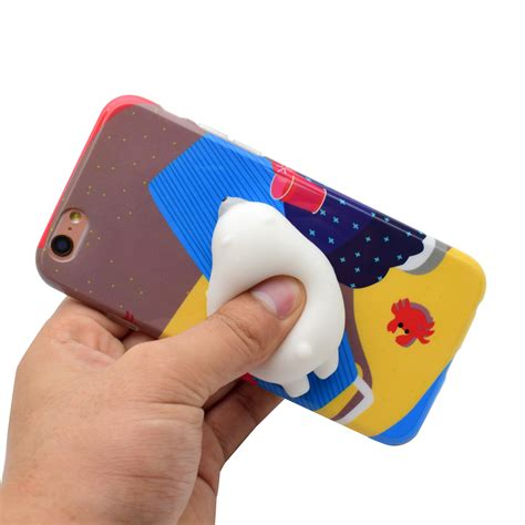 Sale For Iphone 7 Cat Mouse With Squishy Soft Casing luxury 3d soft silicone cat tpu phone cover