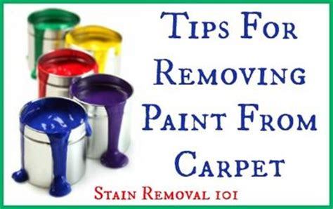 removing paint from carpet tips home remedies