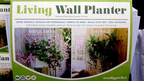 Living Wall Planter Woolly Pocket by Woolly Pockets Introduces New Living Wall Planter