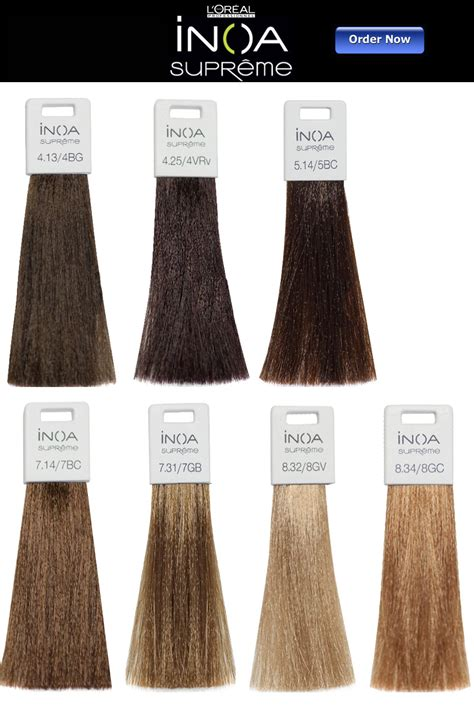 inoa supreme colour chart l oreal inoa supreme hair color chart