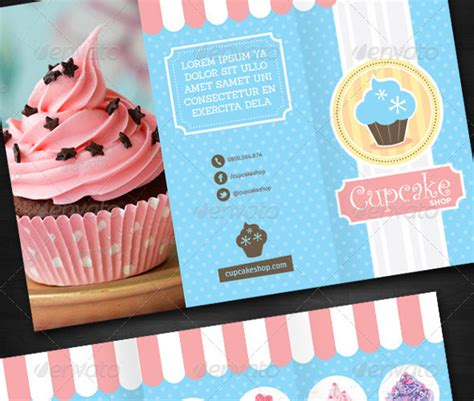 Cupcake Shop by 25 And Cupcake Shop Brochure Templates