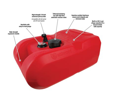 boat gas tanks size epa carb certified portable boat fuel tanks by attwood