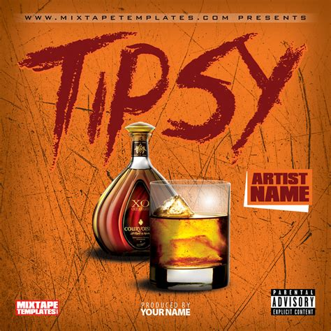 mixtape design templates tipsy mixtape cover template by filthythedesigner on