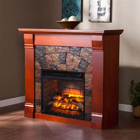 Mahogany Fireplace by Elkmont Infrared Electric Fireplace Mantel Package In