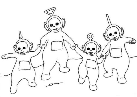 new teletubbies coloring pages to kids