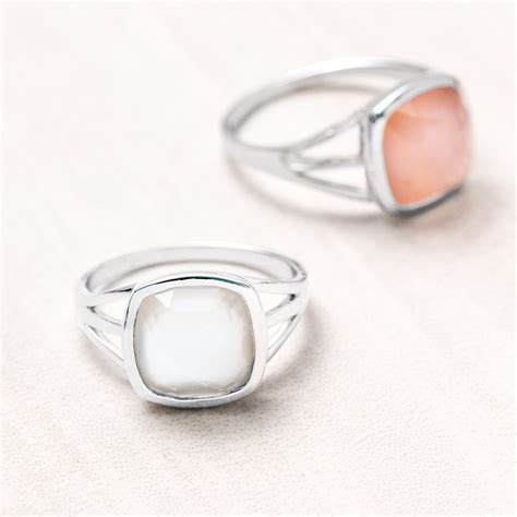 radiant pearl mini square ring landing company