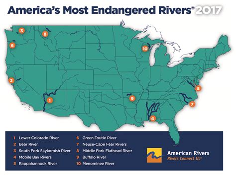 buffalo in usa map river among america s most endangered rivers 174 of 2017
