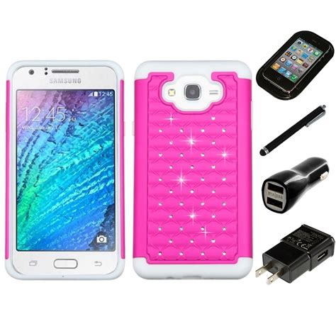 samsung galaxy rugged phone for samsung galaxy j7 rhinestone rugged armor bling phone cover charger ebay