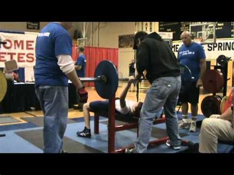 145 bench press 12 year old ryan greer breaks aau bench press record with