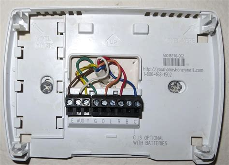 honeywell 3000 thermostat wiring diagram for a heat
