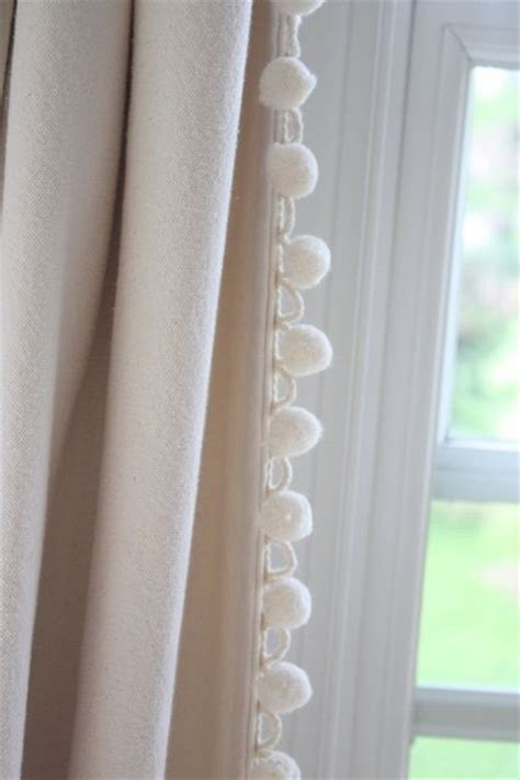 trims for curtains pom pom trim on curtains custom window treatments