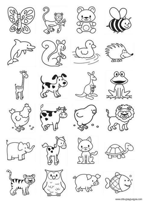 Plantillas con dibujos de animales para pintar y recortar