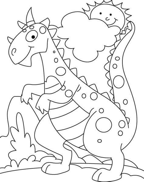 free coloring pages of dinosaur preschool