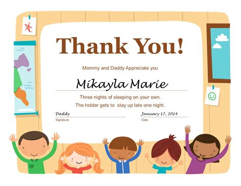 certificate templates for children try this easy certificate to reward your children for
