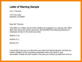 sample warning letter 8 free documents download in word