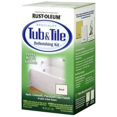 bathtub painting kit rust oleum specialty 1 qt biscuit tub and tile refinishing kit 7862519 the home depot