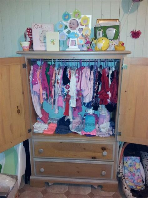 tv stand turned into babies closet house home