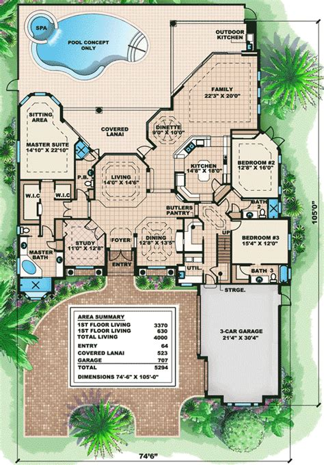 luxury home floor plans with photos cozy and luxury house plan 66011we architectural designs house plans