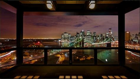 Office Loft Ideas by Views Of New York City From Modern Penthouse With Big