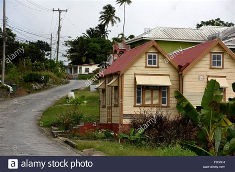 buy house in barbados chattel houses in the scotland district of barbados in the caribbean stock photo