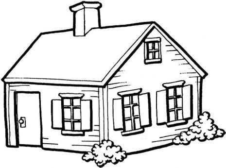 drawings of houses line drawing of house clipart best