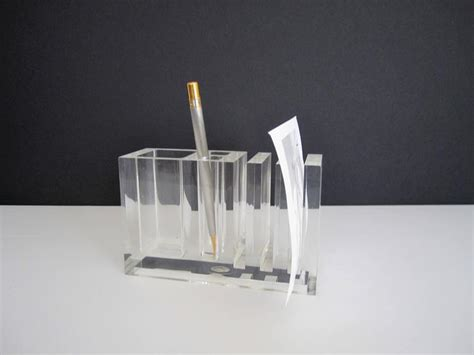 Acrylic Desk Organizer Set Vintage Lucite Desk Organizer Italy 1980s For Sale At 1stdibs